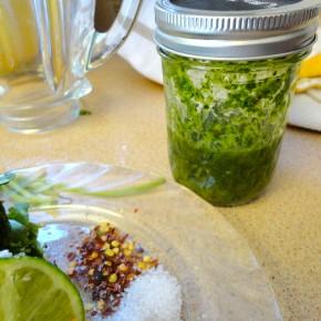 Mason Jar Cilantro Sauce