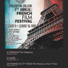 Press >> French Film Festival at Fullerton College 3.9-3.16.13