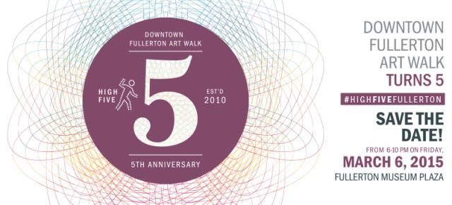 Fullerton Art Walk 5-Year Anniversary Event