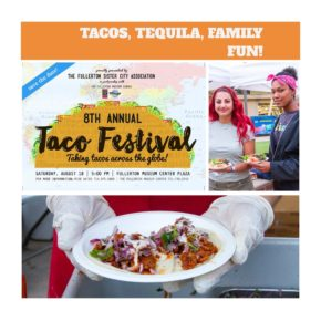 8th Annual Taco Festival @ Fullerton Museum Center Plaza