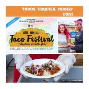 8th Annual Taco Festival @ Fullerton Museum Center Plaza